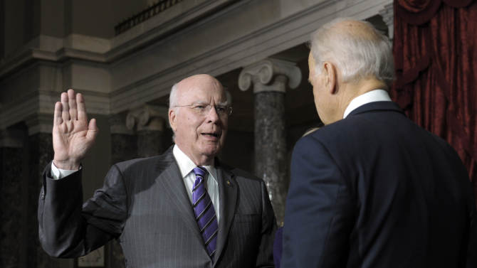 Leahy sworn in as president pro tempore of Senate