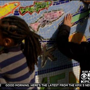 Cool School: Students & Parents Create A Beautiful Mural At Vallejo Elementary School