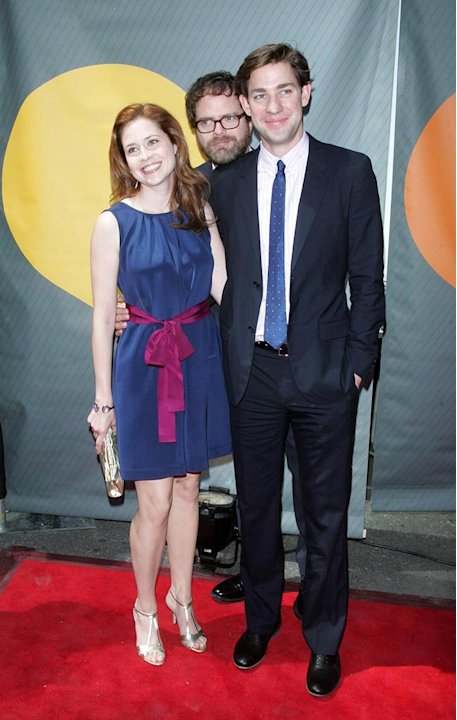 Jenna Fischer , Rainn Wilson and John Krasinski at the NBC 2007 Upfronts