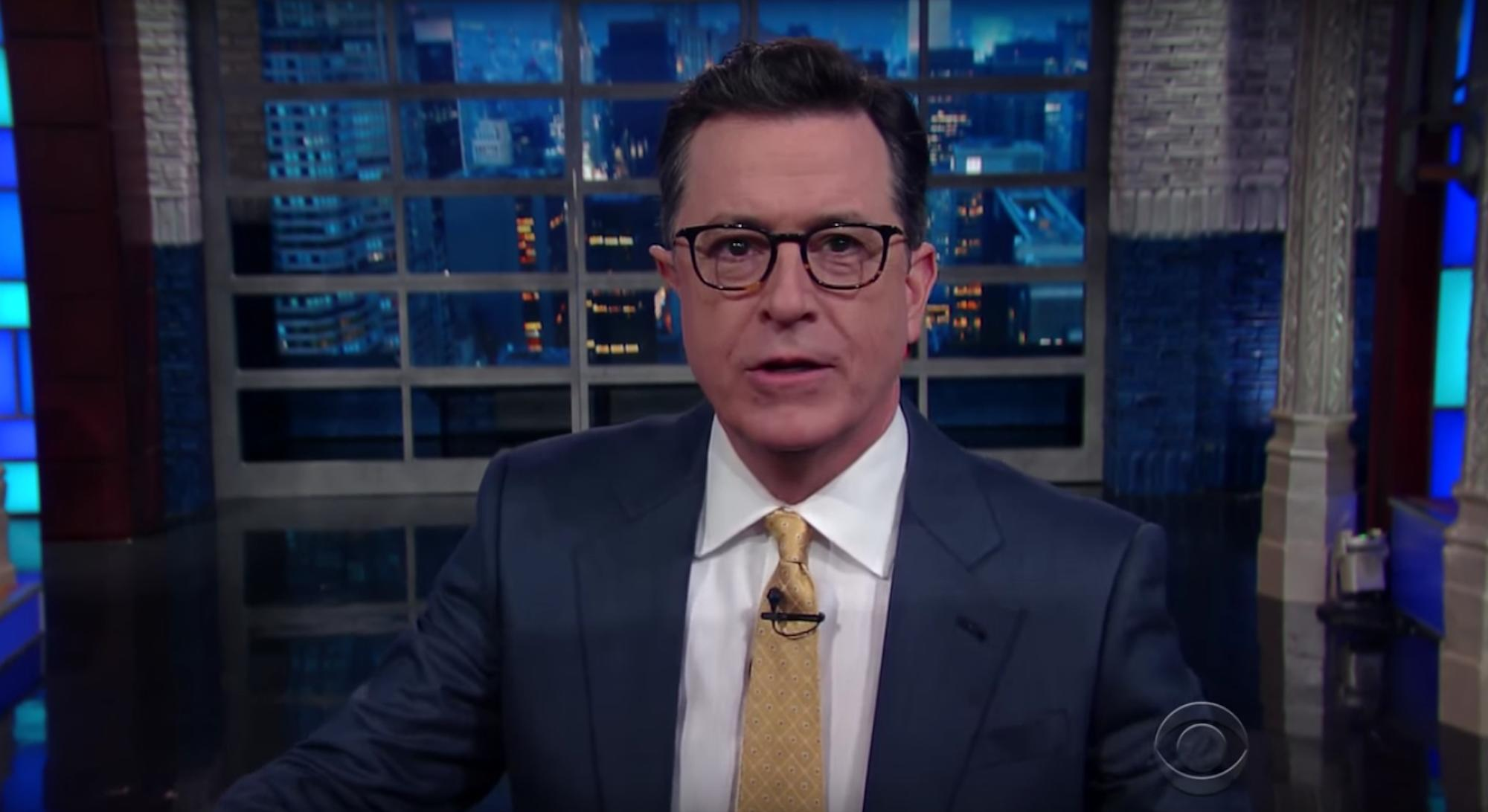 Stephen Colbert teases Trump for inauguration crowd size