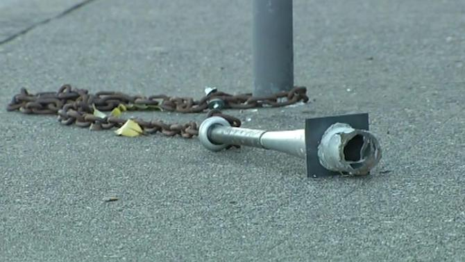 Weapon-like baseball bats found chained to poles throughout San Francisco