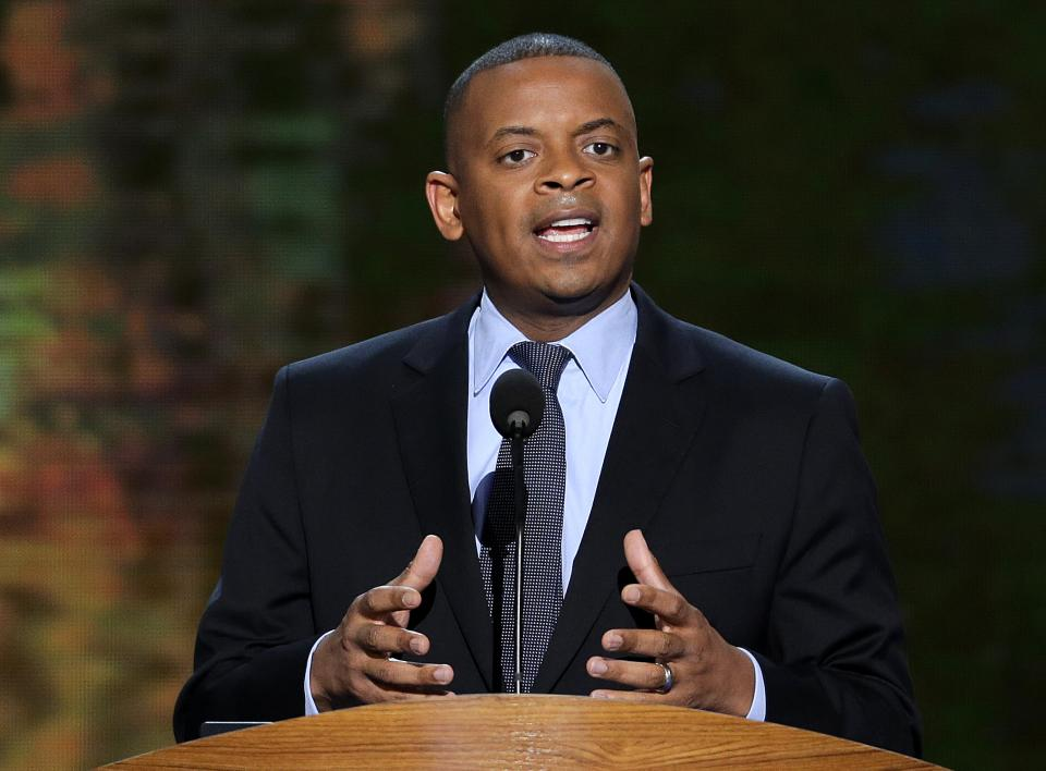 President Barack Obama on Monday will nominate Charlotte Mayor Anthony Foxx as his new Transportation Secretary, a White House official says. (AP Photo/J. Scott Applewhite, File)