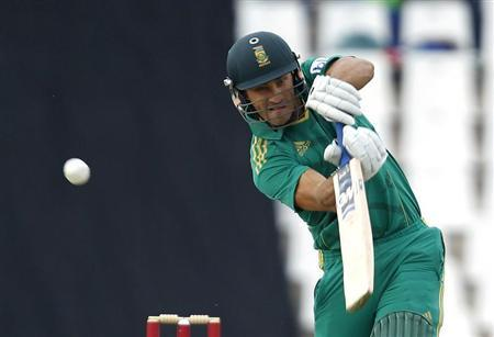 South Africa's Faf du Plessis plays a shot during their Twenty20 cricket match against Pakistan, in Pretoria