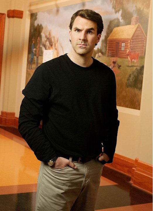 "Paul Schneider stars as Mark Brendanawicz in ""Parks and Recreation."""