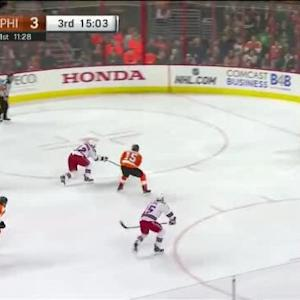 Steve Mason Save on Lee Stempniak (04:58/3rd)