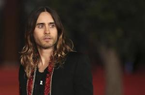 "Cast member Jared Leto during a red carpet event for the movie ""Dallas Buyers Club"" at the Rome Film Festival"