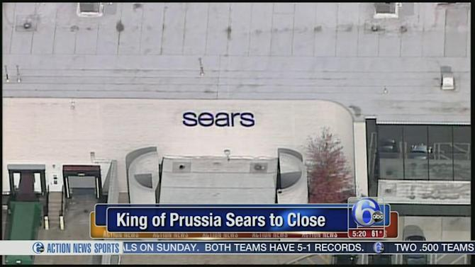 The sears store at the king of prussia mall will be closing soon