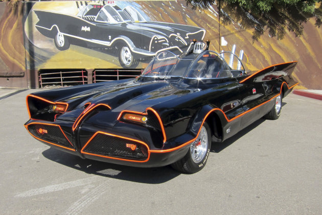 <p>               This October 2012 file photo provided by Barrett-Jackson/George Barris shows the original Batmobile in Los Angeles. Batman's original ride, from the 1960s TV series, has sold at auction for $4.2 million on Saturday, Jan. 19, 2013. (AP Photo/Courtesy Barrett-Jackson/George Barris, File)