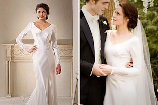 Stewart wore a Carolina Herrera wedding dress.