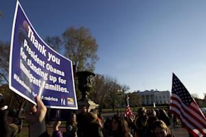 FILE - In this Nov. 21, 2014 file photo, supporters…
