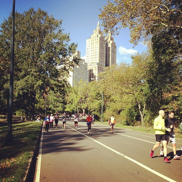 Endless amount of #unofficial #nycmarathon runners. At all different points of the &quot;race.&quot;