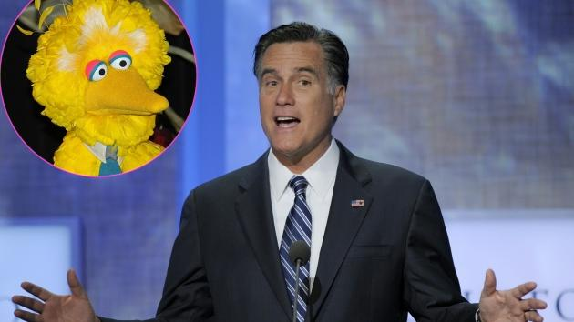 Big Bird, Mitt Romney -- Getty Images