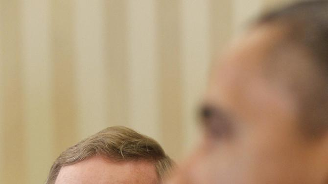 President Barack Obama meets with Irish Prime Minister Enda Kenny in the Oval Office of the White House in Washington, Tuesday, March, 20, 2012. (AP Photo/Pablo Martinez Monsivais)