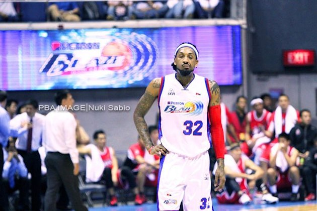 Renaldo Balkman went ballistic on his own teammates in the closing minutes of Petron's loss to Alaska. (Nuki Sabio/PBA Images)