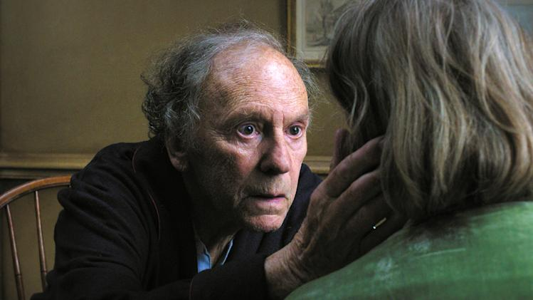 "This film image released by Sony Pictures Classics shows Jean-Louis Trintignant in a scene from the Austrian film, ""Amour.""  On Monday, Dec. 3, 2012, The New York Film Critics Circle announced their picks for best film and the top performances of the year, one of the first major awards in the drumbeat ahead of the Academy Awards. Michael Haneke's Palme d'Or-winning ""Amour,"" a depiction of an aging married couple, took best foreign language film.  (AP Photo/Sony Pictures Classics)"