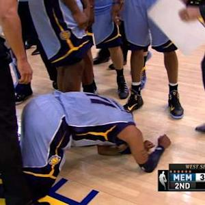 Mike Conley Goes Down