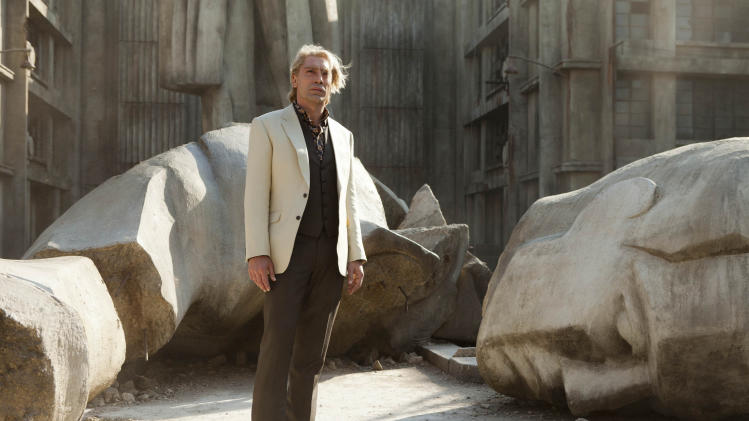 "FILE - This publicity film image released by Sony Pictures shows Javier Bardem in a scene from the film ""Skyfall."" Bardem portrays, Raoul Silva, one of the finest arch-enemies in the 50-year history of Bond films. (AP Photo/Sony Pictures, Francois Duhamel, File)"