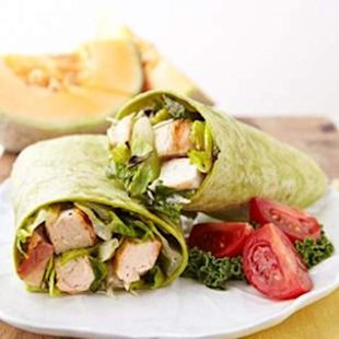 Fast &amp; Tasty Chicken Caesar Salad Wrap