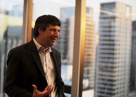 Esteves, CEO Brazilian BTG Pactual bank is pictured during an interview in Sao Paulo