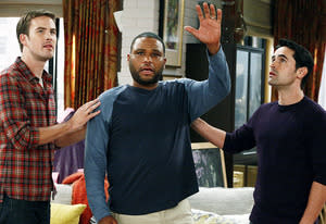 Zach Cregger, Anthony Anderson and Jesse Bradford | Photo Credits: Vivian Zink/NBC