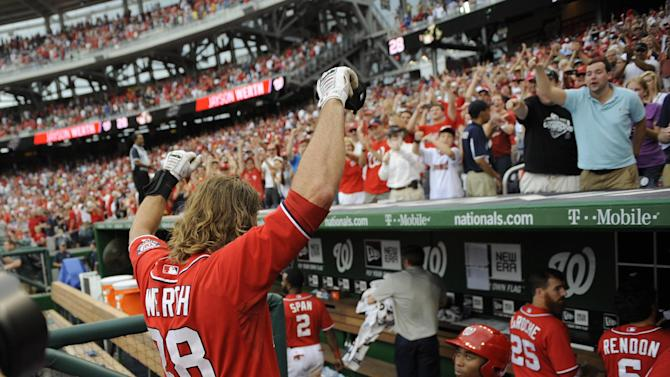 Werth's double in 9th helps Nats beat Brewers 5-4