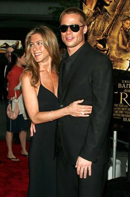 Premiere: Jennifer Aniston and Brad Pitt at the New York premiere of Warner Brothers' Troy - 5/10/2004