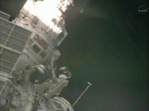 Russian Cosmonauts Take Spacewalk Outside Space Station