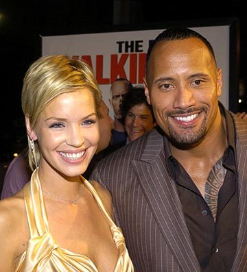 "Premiere: Ashley Scott and Dwayne ""The Rock"" Johnson at the LA premiere of MGM's Walking Tall - 3/29/2004"