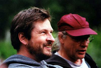 Lars von Trier (director) and Robby Muller (director of photography) on the set of Fine Line's Dancer In The Dark