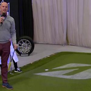 Adam Rank puts his golf skills to the test