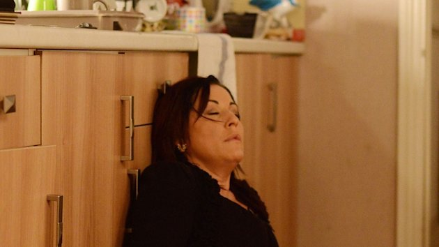 Pregnant Kat Moon is left on the floor in pain in EastEnders