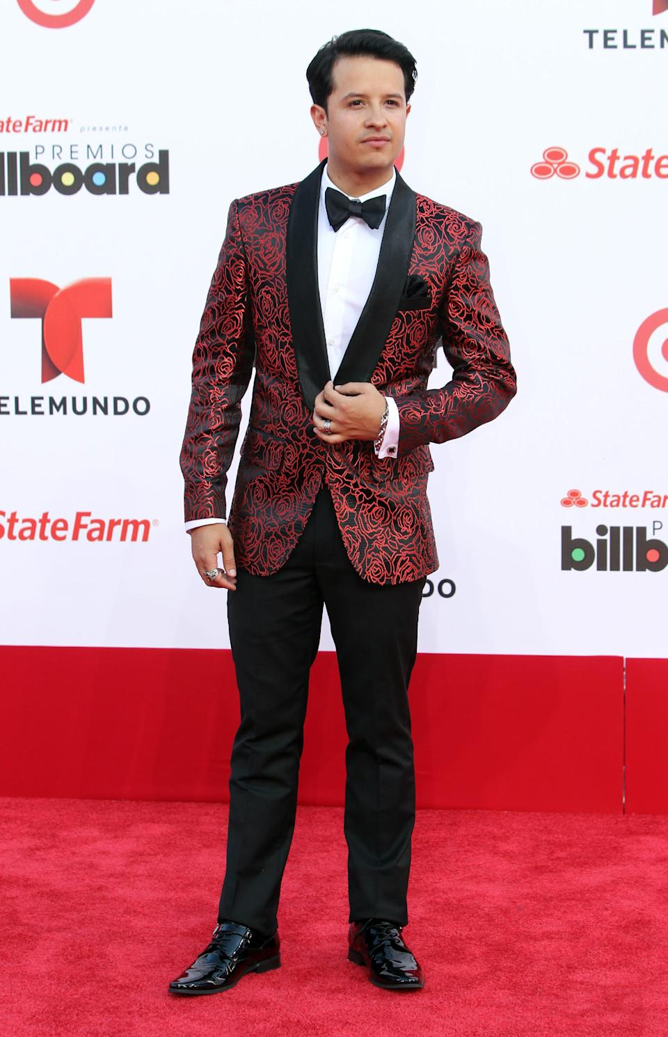 Panamanian reggaetton artist Fito Blanko arrives at the Latin Billboard Awards in Coral Gables, Fla. Thursday, April 25, 2013. (Photo by Carlo Allegri/Invision/AP)