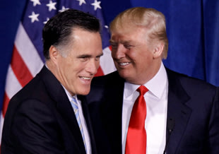 Trump steals Romney's spotlight