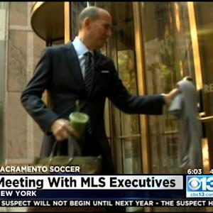 Mayor Kevin Johnson In New York City Meeting With MLS Executives