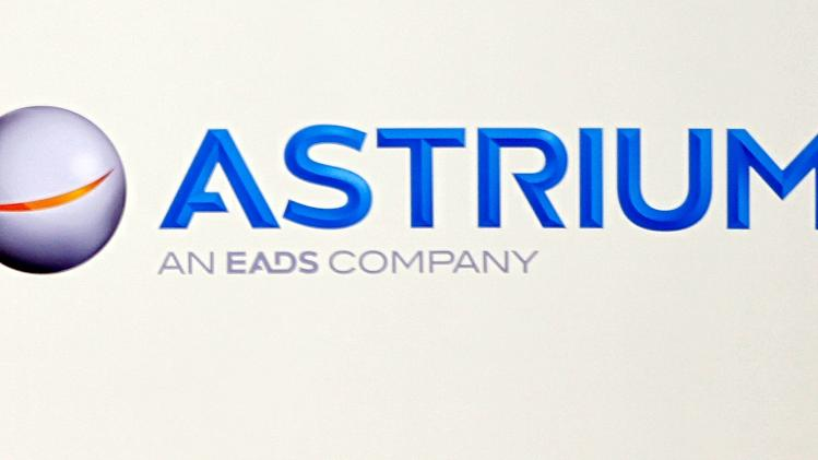 File photo of logo of Astrium space division at the European aerospace and defence group EADS headquarters in Les Mureaux