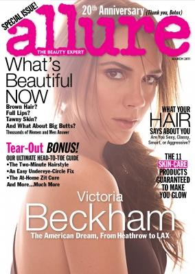 Victoria Beckham on the March 2011 cover of Allure Magazine -- Allure