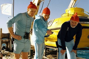 Willem Dafoe , Owen Wilson and Bill Murray in Touchstone Pictures' The Life Aquatic with Steve Zissou
