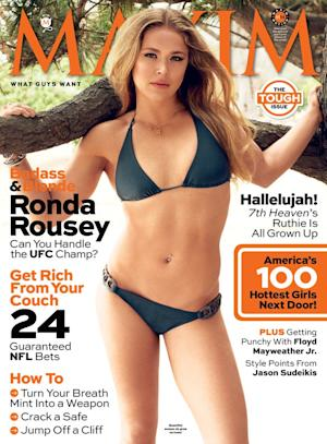 UFC Champ Ronda Rousey is Latest Maxim Magazine Cover Girl; Graces September Issue