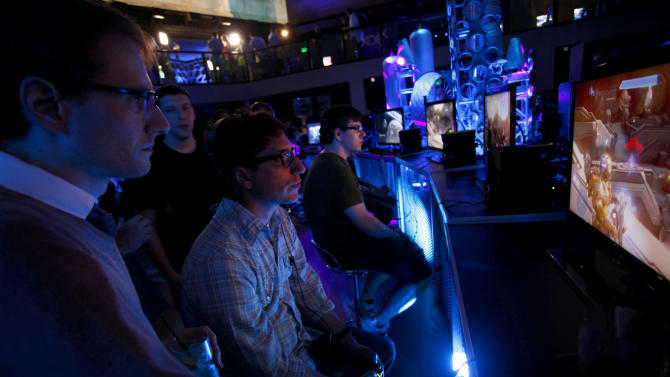 COMMERCIAL IMAGE - In this image provided by Xbox, press and fans attend the Halo 4 E3 Reception at The Exchange on Tuesday June 5, 2012, in Los Angeles. Halo 4 launches worldwide Nov. 6. (Photo by Joe Kohen/Invision for Xbox /AP Images)