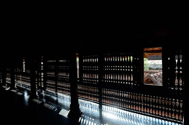 <p>Artistic latticework at the Padmanabhapuram Palace in Tamil Nadu's Kanyakumari district</p>