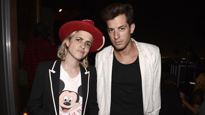 Samantha Ronson, left and Mark Ronson attend Billboard & Jimmy Choo's Men of Style on Friday, Aug. 28, 2015, in Los Angeles. (Photo by Dan Steinberg/Invision for The Hollywood Reporter/AP Images)