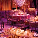 pink orange wedding