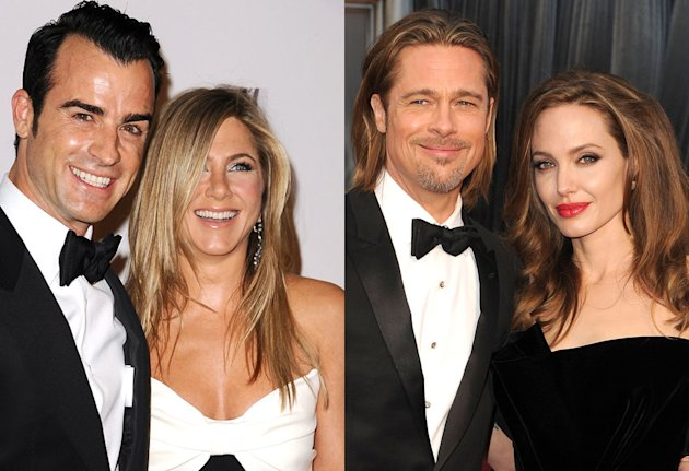 Justin Theroux, Jennifer Aniston, Angelina Jolie, Brad Pitt