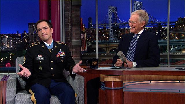 David Letterman - Medal of Honor Recipient, Staff Sgt. Clinton Romesha