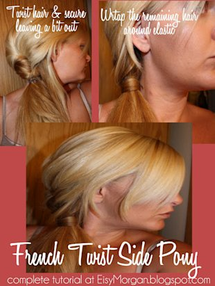 French Twist Side Pony