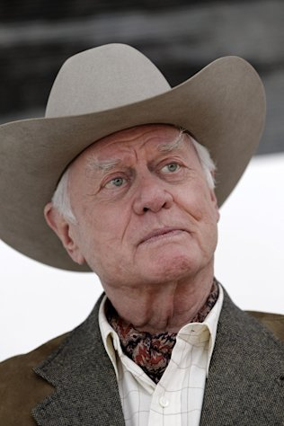 "FILE - In this Nov. 4, 2011 file photo, actor Larry Hagman pauses during an interview on location during the filming for the upcoming new television show ""Dallas"" in Dallas. Actor Larry Hagman, who for more than a decade played villainous patriarch JR Ewing in the TV soap Dallas, has died at the age of 81, his family said Saturday Nov. 24, 2012. (AP Photo/Tony Gutierrez, File)"