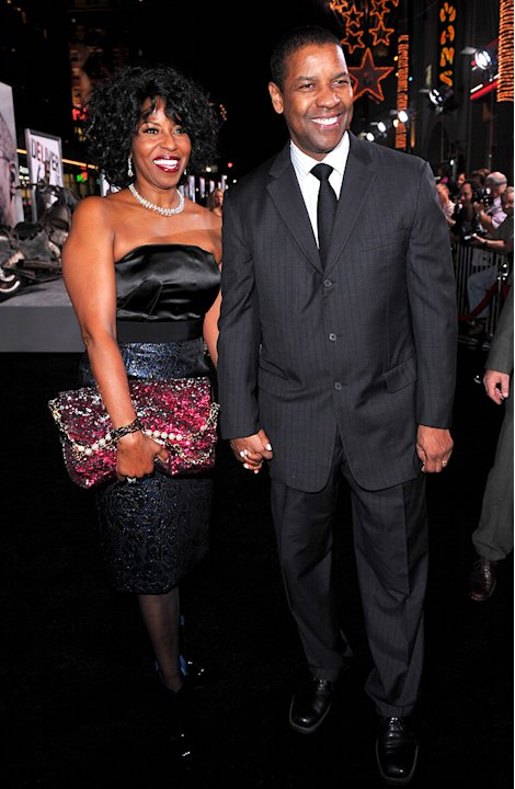 The Book of Eli LA premiere 2010 Pauletta Washington Denzel Washington