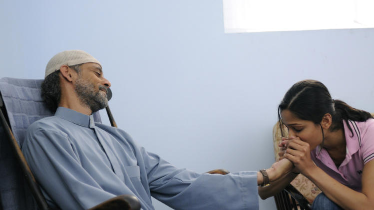 Alexander Siddig Freida Pinto Miral Production Stills Weinstein 2010