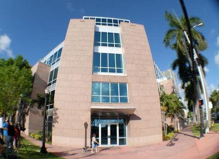 The building housing offices of CONCACAF, the soccer federation that governs North America, Central America and the Caribbean, is seen during a search by FBI agents in Miami Beach