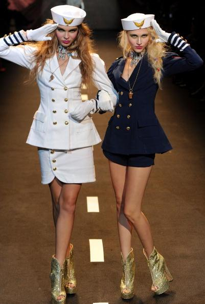 "When these two walked out for the ""Seaport"" portion of Le Tour de Betsey, ""In the Navy"" by the Village People came on."